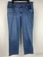 Lee Relaxed Fit  Straight Leg Denim Jeans Women's Size 14 Short Stretch
