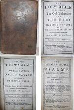 1776 Antique King James Holy Bible Old & New Testament Rev Revolutionary War Era