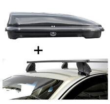 Dachbox VDPFL320L+Dachträger K1M für Fiat 500 X 5Türer ab 15