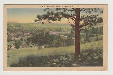 Linen Bird's Eye View of Rapid City, SD, c. 1950 South Dakota