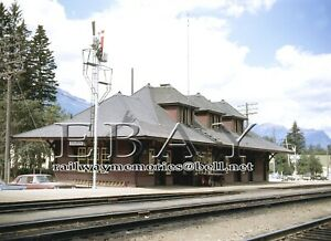 """CPR station Golden, BC. July  1968  High quality Colour 8"""" x10"""" print"""