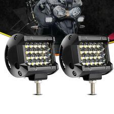 2X 72W IP68 LED Work Light Bar Spot Offroad Trucks Fog Driving For SUV Boat