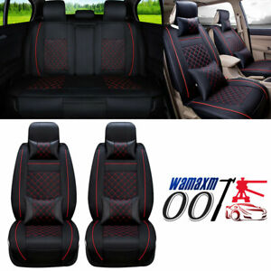 Fly5D Universal SUV Car Seat Covers PU Leather Protector Front&Rear Cushions Set