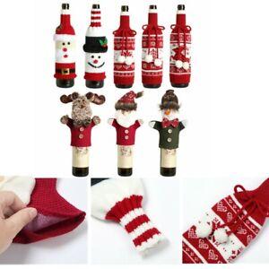 Handmade Bottle Sleeve Sweater Knitted Wine Bottle Cover for Christmas Parties