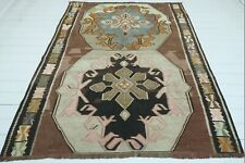 """Vintage Turkish Kars Kilim Rug, Area Rugs,Tribal Rug 69""""x85"""" Modern Rug, Carpet"""