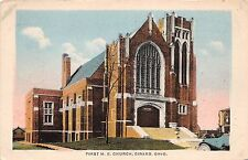 Ohio Postcard c1910 GIRARD First M.E. Church Building