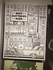 Dave Matthews Band Poster Summer Tour 2019 Color Your Own Rare Drive In 2020 Dmb