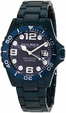 Haurex Italy Women's 7K374DB2 Ink Luminous Royal Blue Aluminum Date Watch