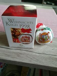 Weihnachtskugel Jahresedition 1998 Hutschenreuther