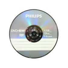 DVD-RW 4,7GB / 120MIN PHILIPS ÉCRITURE 4X RÉINSCRIPTIBLE - BUNDLE