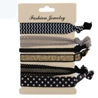 Hair Ties Colorful No Crease Ponytail Bracelets Hairband Rope 6Pcs/pack