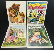 Lot of 4 - Vintage Playskool ARTIST & WRITERS GUILD, Inc Cardboard Tray Puzzles