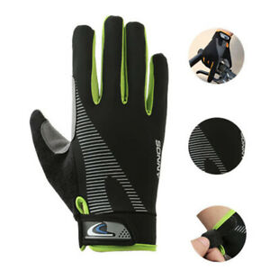 Men Outdoor Sports Summer Cycling Gloves Anti-slip Full Finger Touch Screen M~XL
