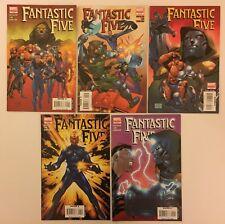 Fantastic Five #1-5 Complete Set (Marvel Comics, 2007) VF (5 Comics)