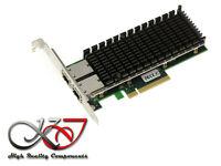Carte Réseau PCIE 10G 2 PORTS 10 GB RJ45 CHIPSET INTEL X540 HIGH + LOW profile