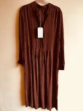 NEW! TOAST, GINGER AND BLACK STRIPED SHIRT DRESS 12