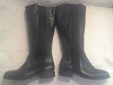 Kenneth Cole Reaction Womens Boots Ladies Black Knee Length Leather US 7.5 NEW