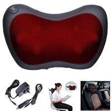 Shiatsu Massager Body Massage Pillow Cushion Neck Knead Back Home Car Black