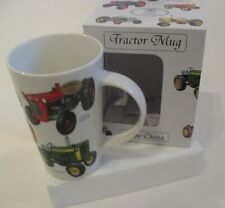 Classic Tractors Mug - Fine China Mug : Massey Ferguson John Deere David Brown