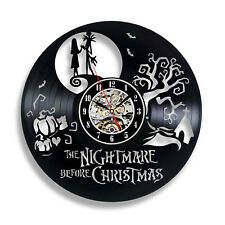 The Nightmare Before Christmas Gift Vinyl Record Wall Clock Home Decor Art