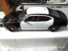 2006 Dodge Charger Pursuit Police Car Black And White Unmarked 1/18 Welly Rare