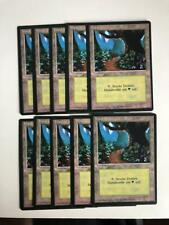 MTG 10X GERMAN BLACK BORDERED FOREST NM FBB MAGIC THE GATHERING BASIC LAND CARD