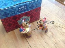"very rare disney tradition 'jaq &gus- hanging decoration cinderella 4"" boxed"