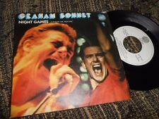 "GRAHAM BONNET NIGHT GAMES/OUT ON THE WATER 7"" 1981 VERTIGO SPAIN"