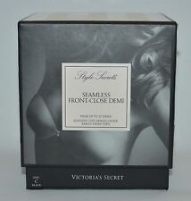 VICTORIA'S SECRET SEAMLESS FRONT CLOSE DEMI SIZE C BLACK BACKLESS STICK ON CUPS