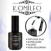 KOMILFO Gel LED / UV Top Coat 15ml. Soak off ORIGINAL