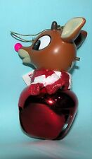 Roman Jingle Buddies Large bell, Rudolph light up nose, Christmas ornament 24906