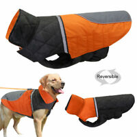 Large Dog Coats Winter Clothes Reversible Dog Jacket Reflective Waterproof Warm