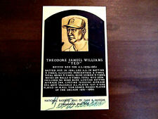 TED WILLIAMS BOSTON RED SOX HOF SIGNED AUTO GOLD HOF PLAQUE JSA FULL LETTER