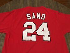 RARE Miguel Sano 24 New Britain Rock Cats Red XL T Shirt Minor League Baseball