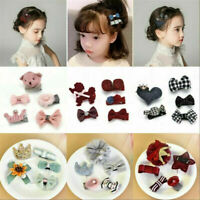 5PCS Cute Fashion Kids Baby Girls Bow Hair Pin Hair Clip Bowknot Clips Hairpins
