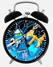 """Lego Ninjago Alarm Schreibtisch Uhr 3.75"""" Heim oder Büro Dekor W382 Nizza für Geschenk"""