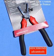 new - (SCMT28540) Sidchrome Wire Stripper Plier 170mm - made in France