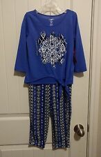 NWT Girls 3/4 Sleeve Glitter Top & Soft Jogger Pants 5/6 Aztec Tribal Outfit SET