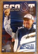 INDIANAPOLIS COLTS - CHICAGO BEARS 2007 GAME PROGRAM - SUPER BOWL CHAMPS! POLIAN