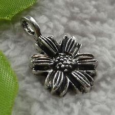 Free Ship 140 pcs tibet silver flower charms 26x17mm #1632
