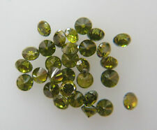 1.5mm 0.08cts 5pc Natural Loose Brilliant Fancy Green Diamond SI Clarity Round