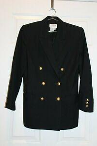 Talbots Ladies Black Double Breasted Blazer sz. 8P