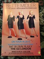BETTE MIDLER FINALLY UK TOUR LONDON A4 POSTER