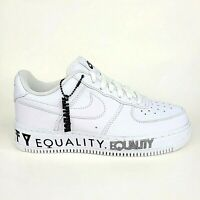 """Nike Mens Air Force 1 Low CMFT """"Equality"""" White Black Shoes Mens 6 Womens 7.5"""