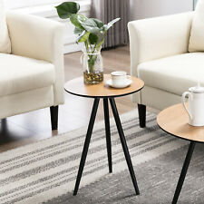 Modern Round Coffee End Table Sofa Side Table Mini Furniture Home Decor Wood New