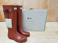 Hunter Wellies Norris Field Wellington Boots Burnt Sienna Size 4 UK/ 37 EU