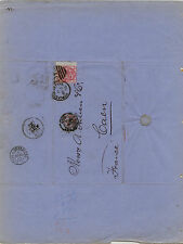 Great  Britain  49pl 16  on  folded letter to  France   1875              MS1113