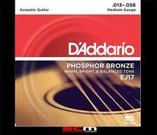 Daddario EJ17 Acoustic Guitar Strings 13/56 Phosphor Bronze String Set