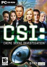 CSI: Crime Scene Investigation, PC CD-ROM jeu.