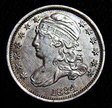 1834 Capped Bust Dime Large 4 JR-2. Choice AU